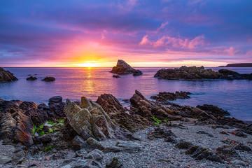 Sunrise at Cullen Bay near Portknockie