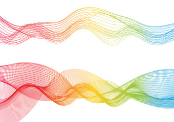 Abstract smooth color wave vector