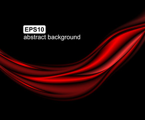 Abstract light wave futuristic background. Modern red flow. Art design for vector illustration.
