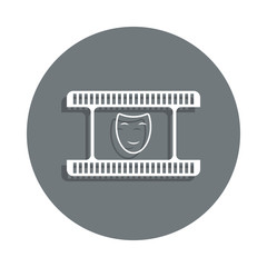 comedy icon in badge style. One of Cinema collection icon can be used for UI, UX