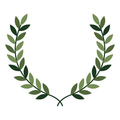 leafs wreath crown icon vector illustration design