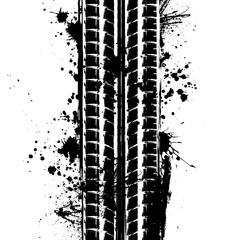 Tire track with blots