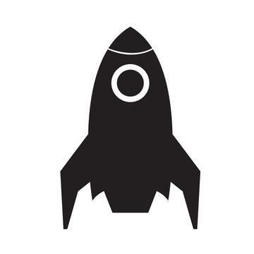 Isolated spaceship logo