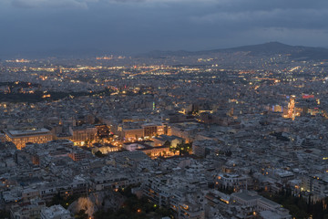 night view from Lycabyttus Hill
