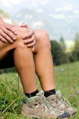 Knie Schmerzen beim Wandern