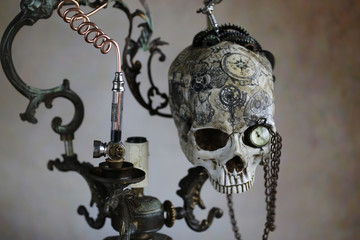 Steampunk teschio tatuato