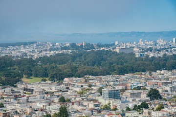 Aerial view of the San Francisco downtown
