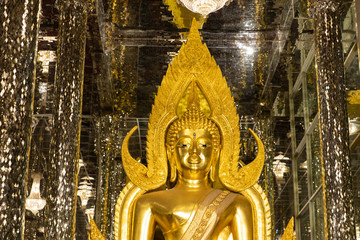 Beautiful of Buddha image in Public temple name WatChanThaRam or WatThaSung at Uthai Thani Province, Thailand