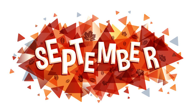 Creative illustration of September word