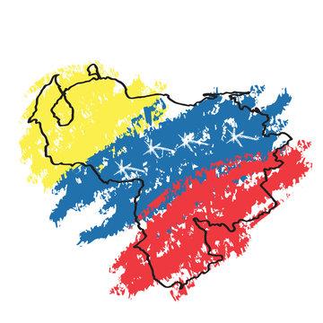 Sketch of a map of Venezuela