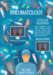 Rheumatology medical clinic or hospital banner