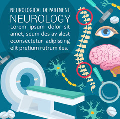 Neurology disease diagnostic clinic poster design