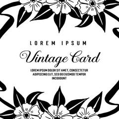 Vintage card floral backgrounds. hand drawn vector illustration