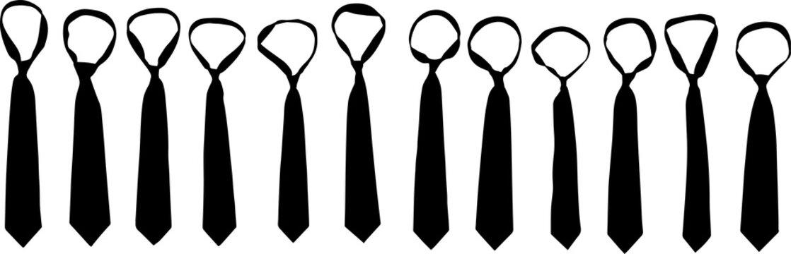 ネクタイのシルエット