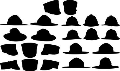 帽子のシルエット