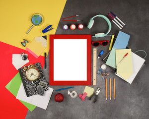 Back to School Education Frame Sign Background
