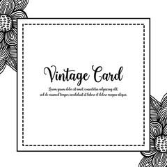 Greeting vintage card with floral design vector illustration