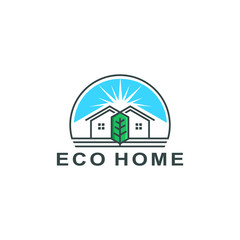 eco home logo template vector illustration