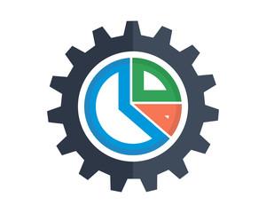 gear chart image vector icon logo symbol