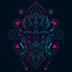 Devil Mask Illustration