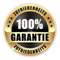 100% Zufriedenheits-Garantie Siegel in gold