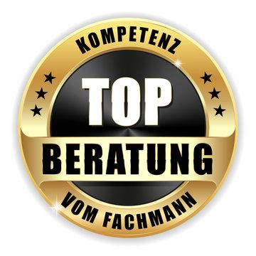 Top Beratung und Kompetenz vom Fachmann Siegel in gold