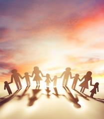 Fototapeta Family united together obraz