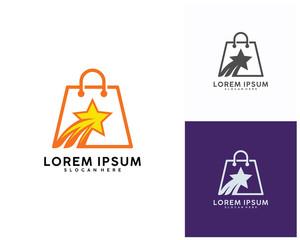 Star Shop Logo designs Template, Vector illustration