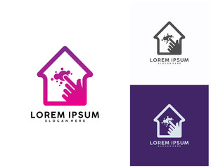Online House logo designs concept vector