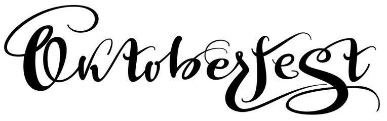 Oktoberfest ornate hand written lettering calligraphy text