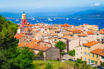 Fotomurales - Old town in St Tropez, Provence, France