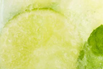 Lemon Frozen In Ice Cube