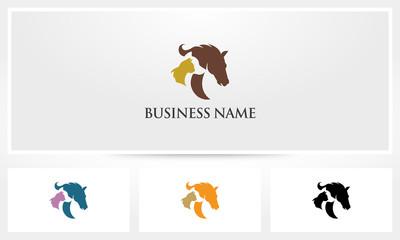Horse Dog Cat Pet Veterinary Logo