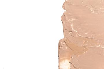 Liquid Foundation Smudge On White Background.