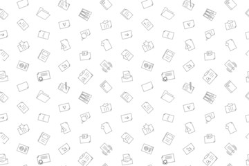 Vector Document pattern. Document seamless background