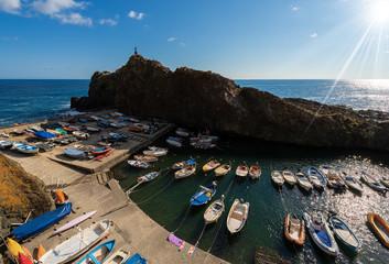 Ligurie Port in the Framura village (Porto Pidocchio), La Spezia, Liguria, Italy