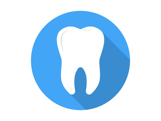 Tooth Icon Flat Vector
