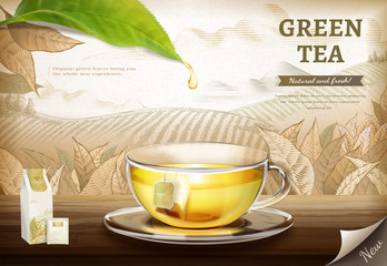Green tea bag ads