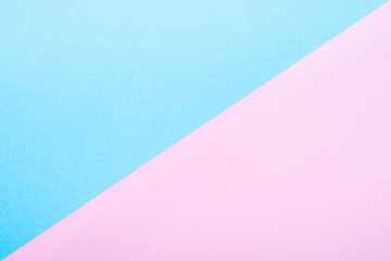 Blue and pink paper background.