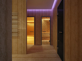 3D rendering Interior of luxury hammam bath
