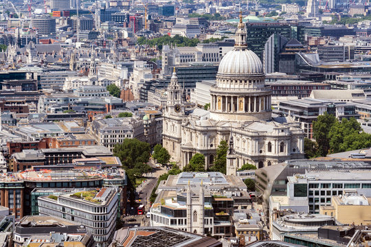 St paul cathedral Aerial view