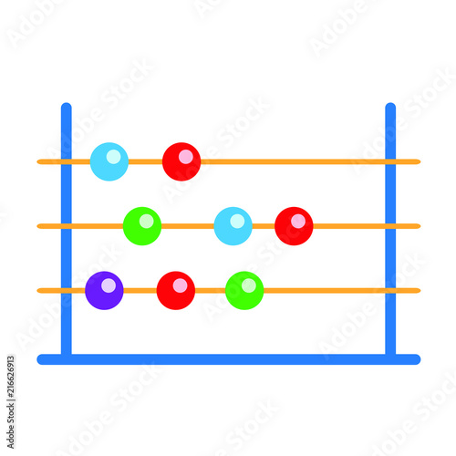 Abacus Education Icon Illustration Math School Symbol Vector