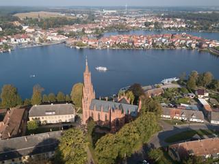 Kloster Malchow mit Blick auf die Stadt