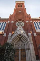 Amazing view of Church of Santa Cruz in City of Madrid, Spain