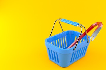 Crowbar inside shopping basket