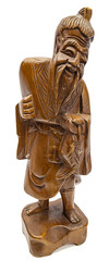 Wood statue of old man
