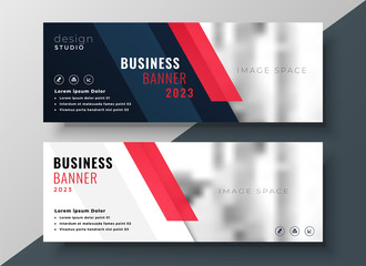 Fototapeta professional corporate business banner design obraz