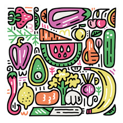 Fruits And Veggies Set