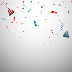 Celebration background template with confetti.