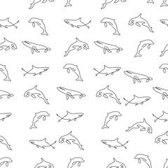 Cetacea animal pattern seamless